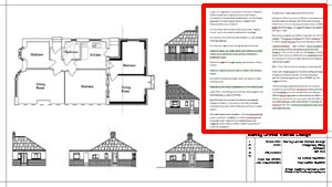 Building Plans for House Extension with Construction Specification My Specs Login